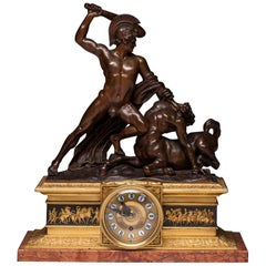 Neoclassical Clock by Antonio Canova Theseus and Centaur 1805–1819 Signed Canova