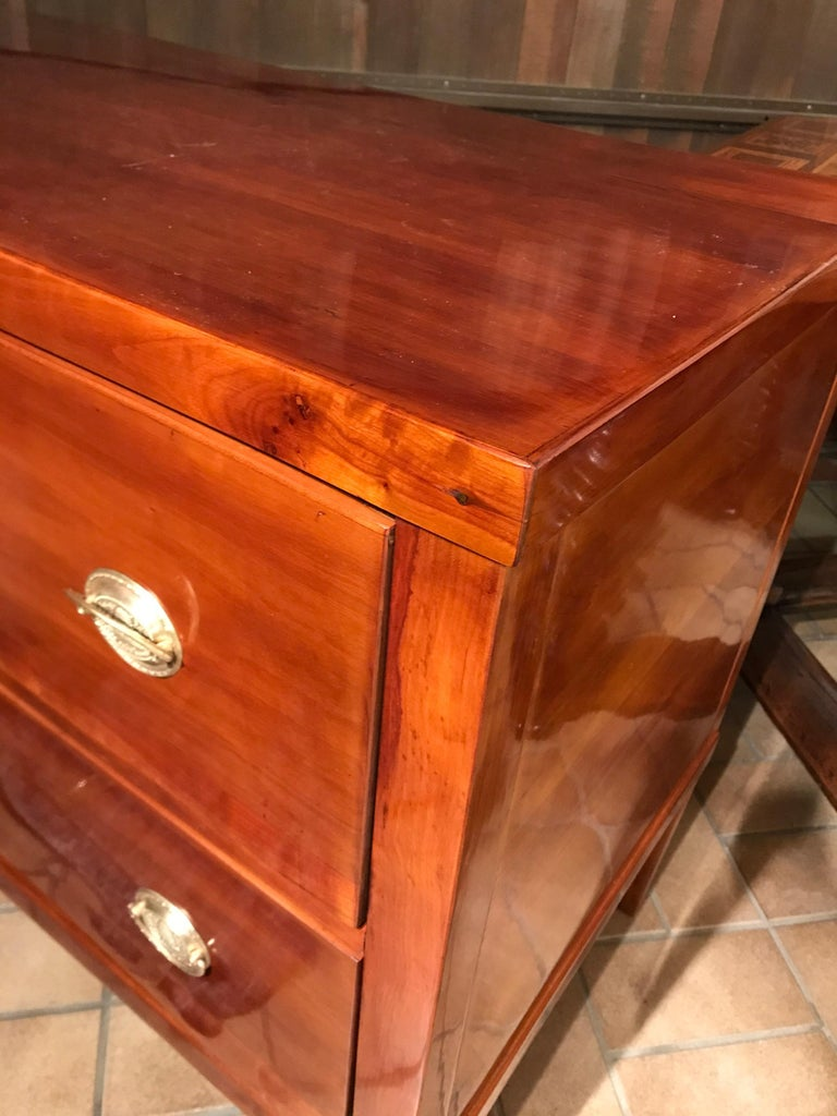 Neoclassical Commode, Germany 1810-1820, Cherry In Good Condition For Sale In Belmont, MA