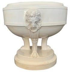 Neoclassical Creamware Cachepot