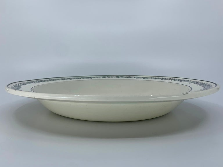 French Neoclassical Creil Creamware Plate For Sale