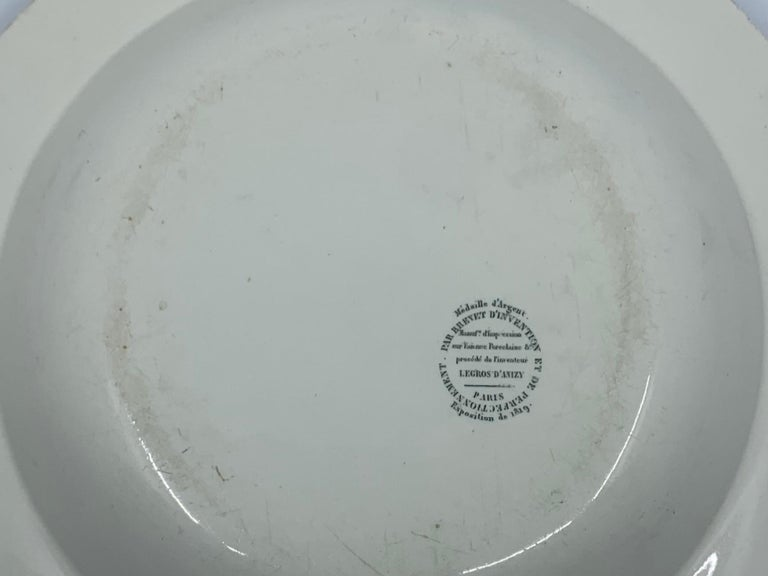 19th Century Neoclassical Creil Creamware Plate For Sale