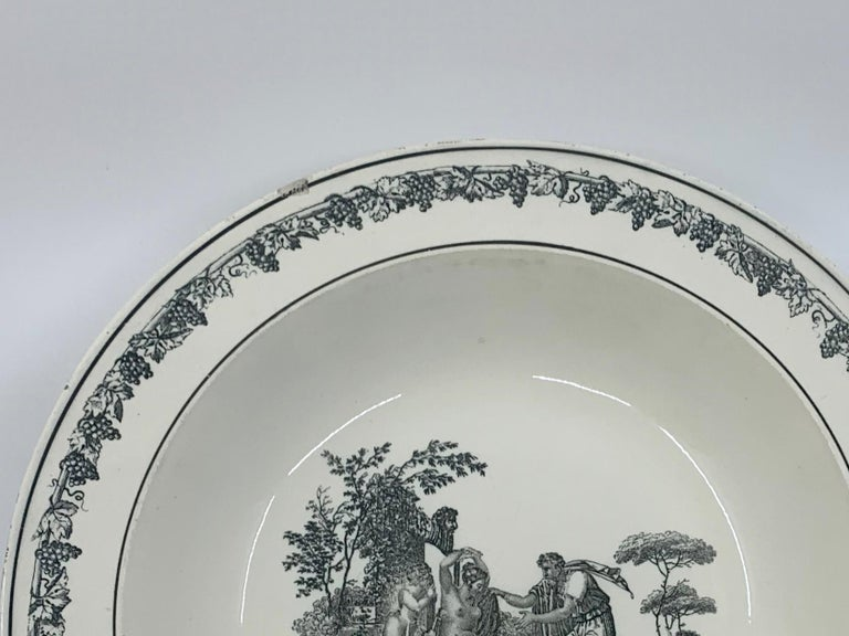 Cupid Neoclassical Creil Creamware Plate For Sale 1
