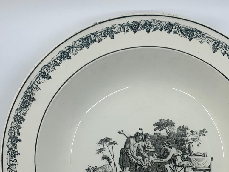Neoclassical Creil Creamware Plate For Sale 1