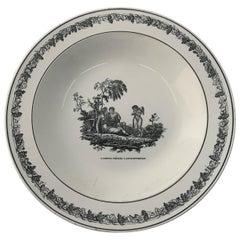 Cupid Neoclassical Creil Creamware Plate