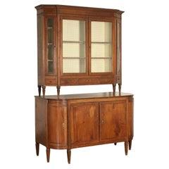 Neoclassical Cupboard Walnut Maple Friuli, Italy, 2nd Half 18th Century