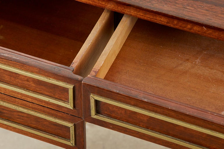 Neoclassical Directoire Style Bronze Mounted Mahogany Desk 5