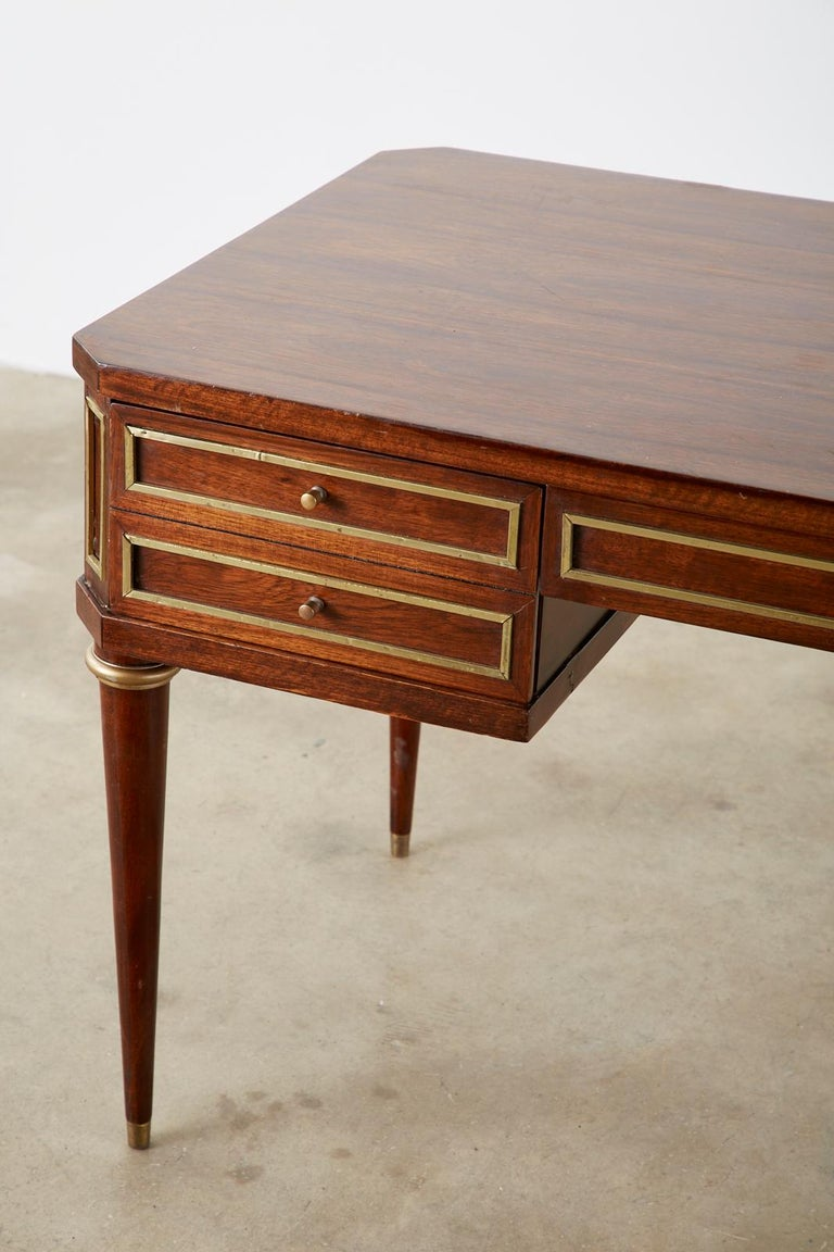 20th Century Neoclassical Directoire Style Bronze Mounted Mahogany Desk