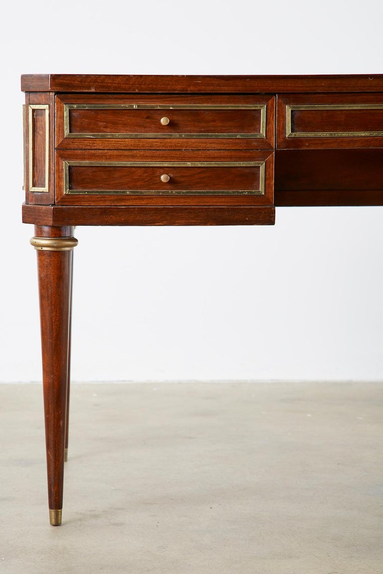Neoclassical Directoire Style Bronze Mounted Mahogany Desk 1