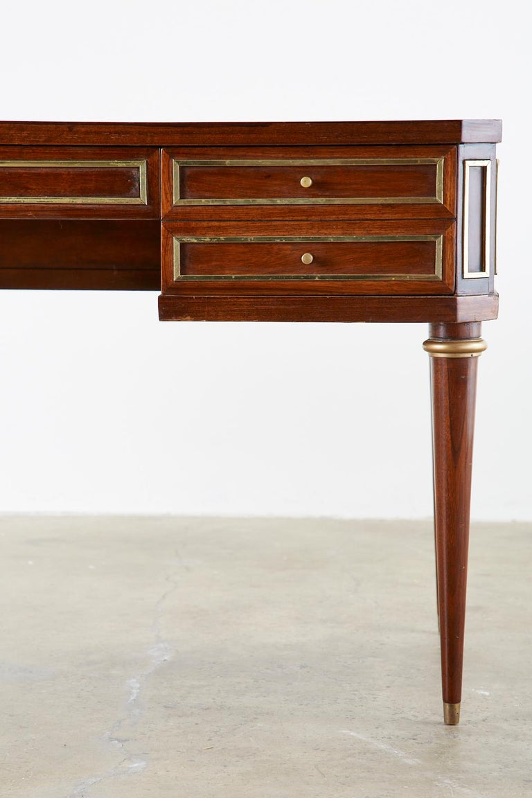 Neoclassical Directoire Style Bronze Mounted Mahogany Desk 2