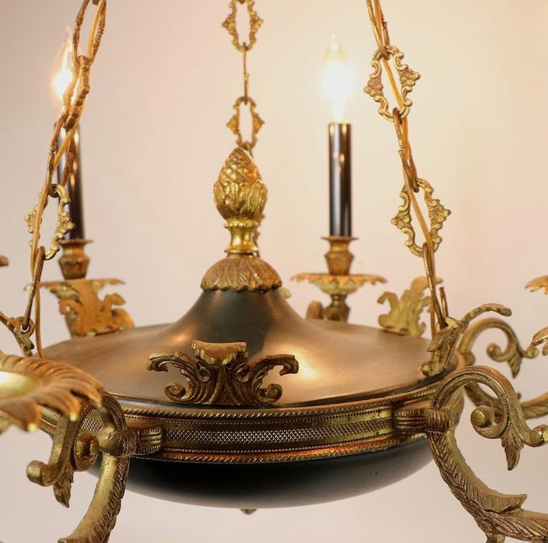 Neoclassical Empire Style 6-Light Chandelier Made in Spain For Sale 7