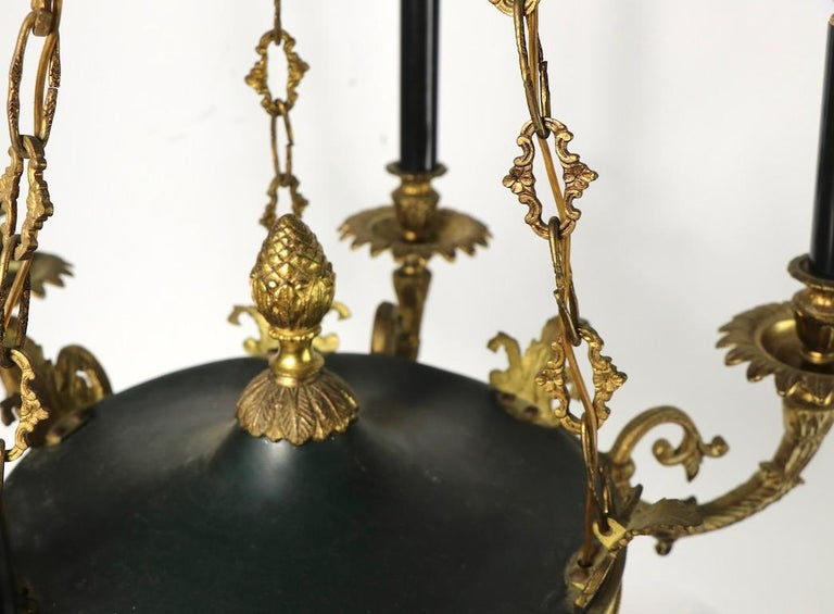 Neoclassical Empire Style 6-Light Chandelier Made in Spain For Sale 1