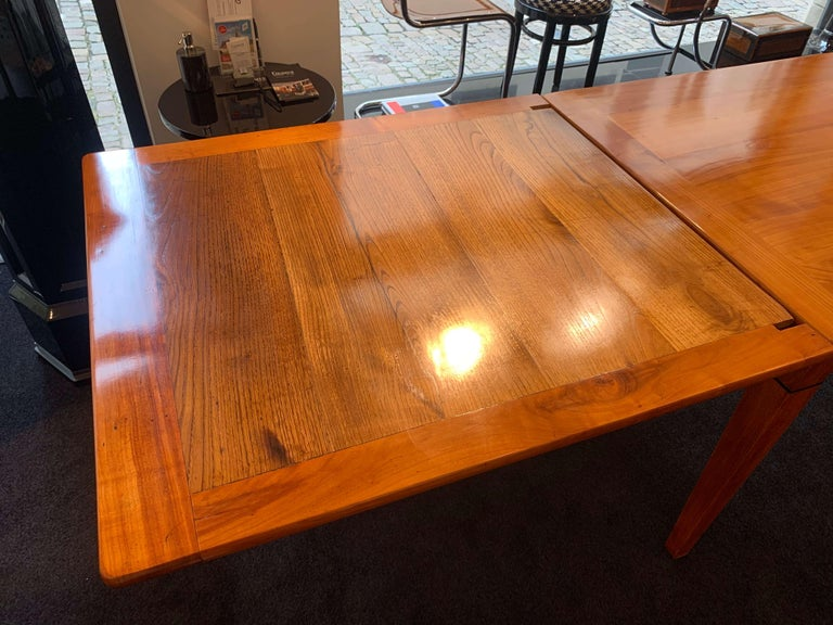 Neoclassical Expandable Dining Table, Cherry Wood, Chestnut, France, circa 1820 For Sale 7