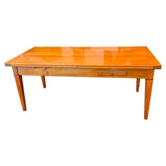 Neoclassical Expandable Dining Table, Cherry Wood, Chestnut, France, circa 1820