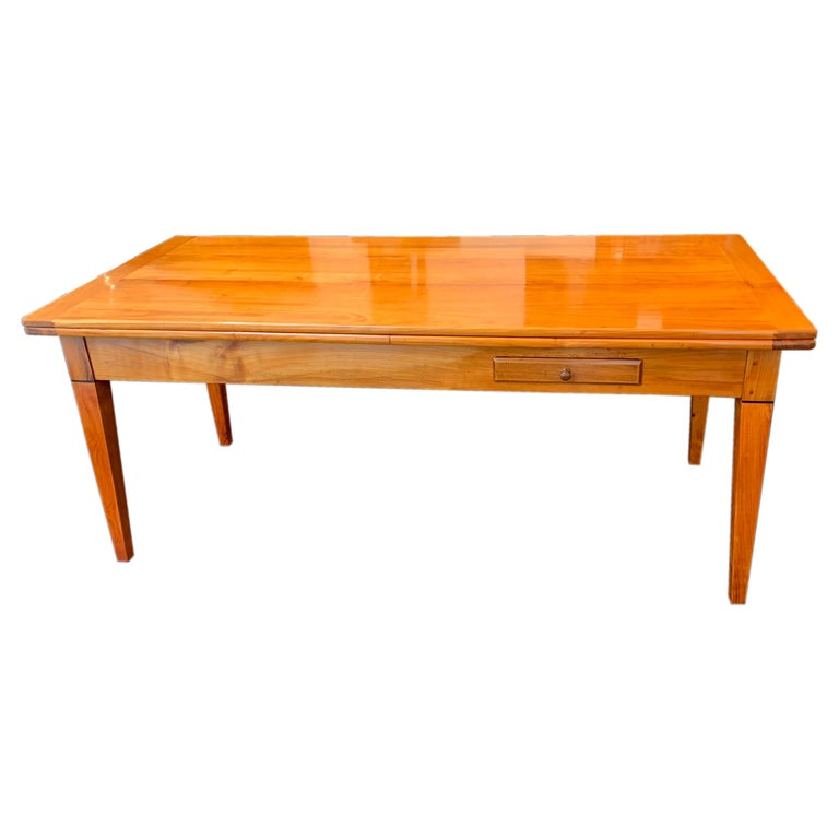 Neoclassical Expandable Dining Table, Cherry Wood, Chestnut, France, circa 1820 For Sale