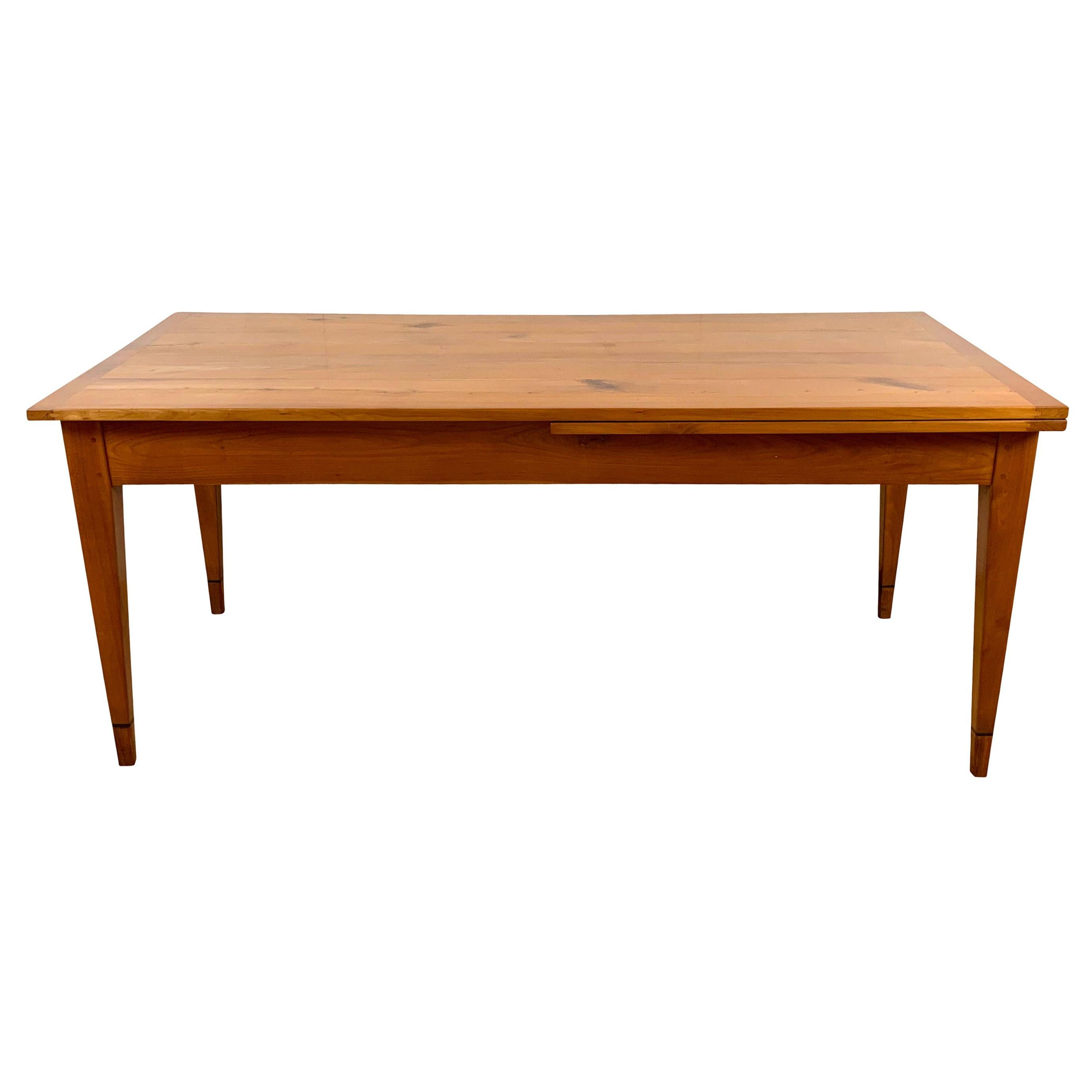 Neoclassical Expandable Dining Table, Solid Cherry, Chestnut, France circa 1820