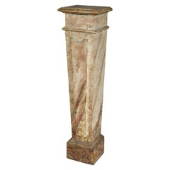 Neoclassical Faux Painted Wood Pedestal