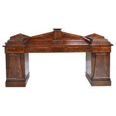 Neoclassical Federal Pedestal Sideboard in Mahogany, circa 1815