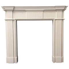 Neoclassical Fireplace in Portland Stone of Small Scale