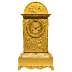Neoclassical Gilt Bronze Mantel Clock