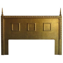 Neoclassical Gilt King Size Headboard, circa 1960s
