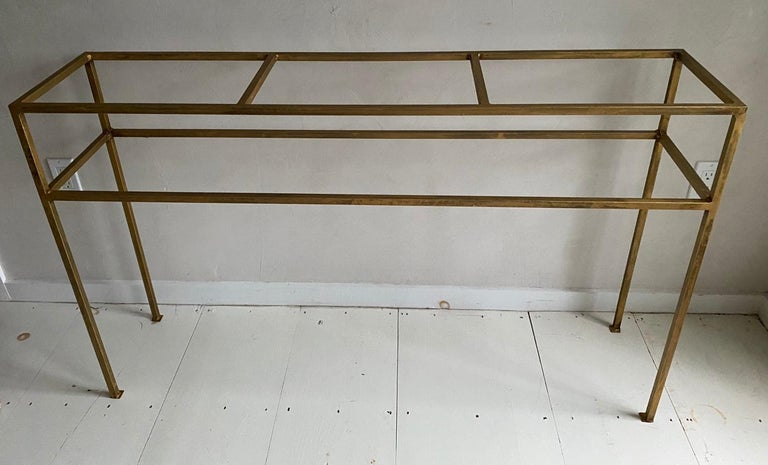 Neoclassical Gilt Metal Base Console Table For Sale 5