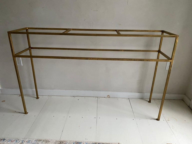 Neoclassical Gilt Metal Base Console Table In New Condition For Sale In Great Barrington, MA