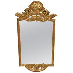 Neoclassical Gilt Small Console Mirror