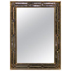 Neoclassical Giltwood Églomisé Mirror