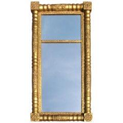 Neoclassical Gold Gilt Pier Mirror
