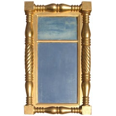 Neoclassical Gold Leaf Gilt Mirror
