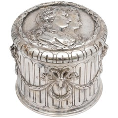 Neoclassical Hannau Continental Silver '.800' Table Box