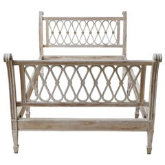Neoclassical Hollywood Regency French Bed Frame