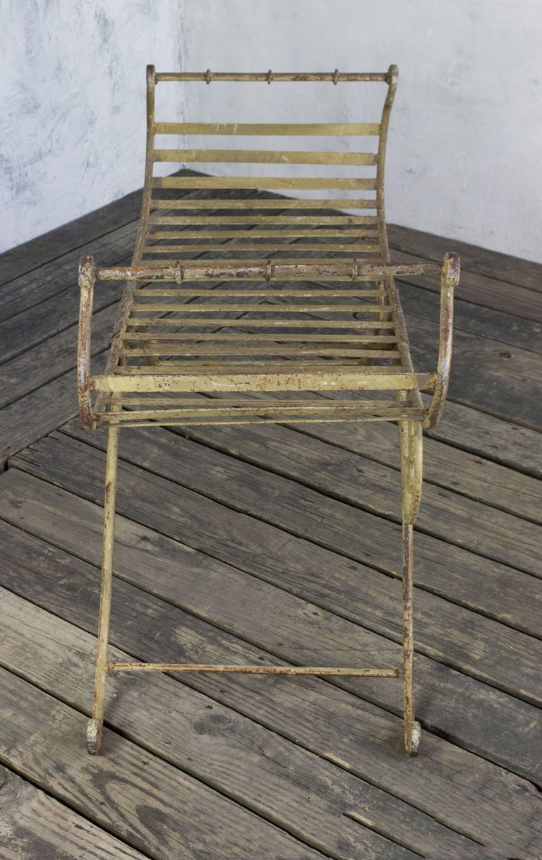 20th Century Neoclassical Iron Bench For Sale