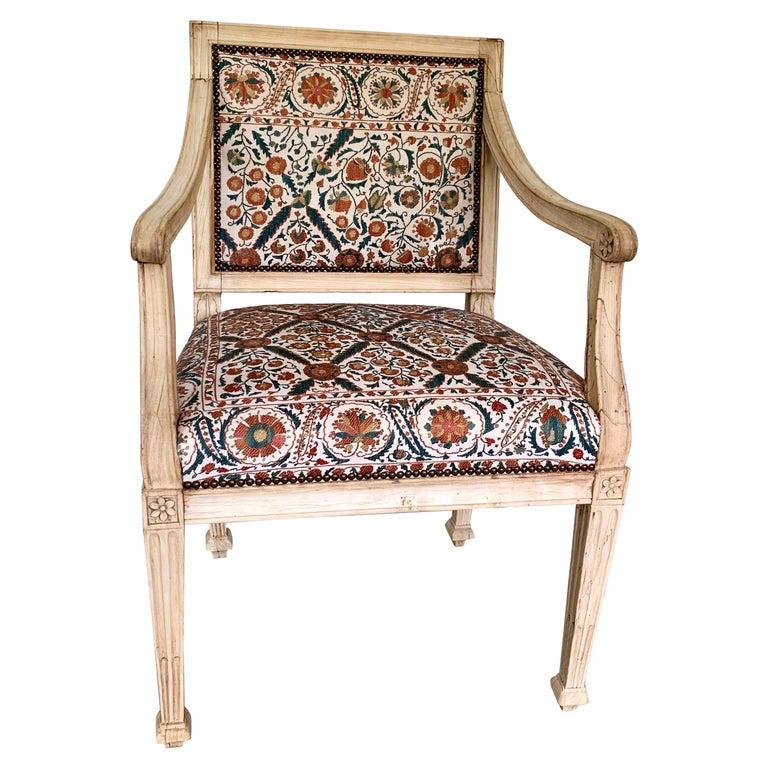 Neoclassical Italian Armchair, 18th Century For Sale