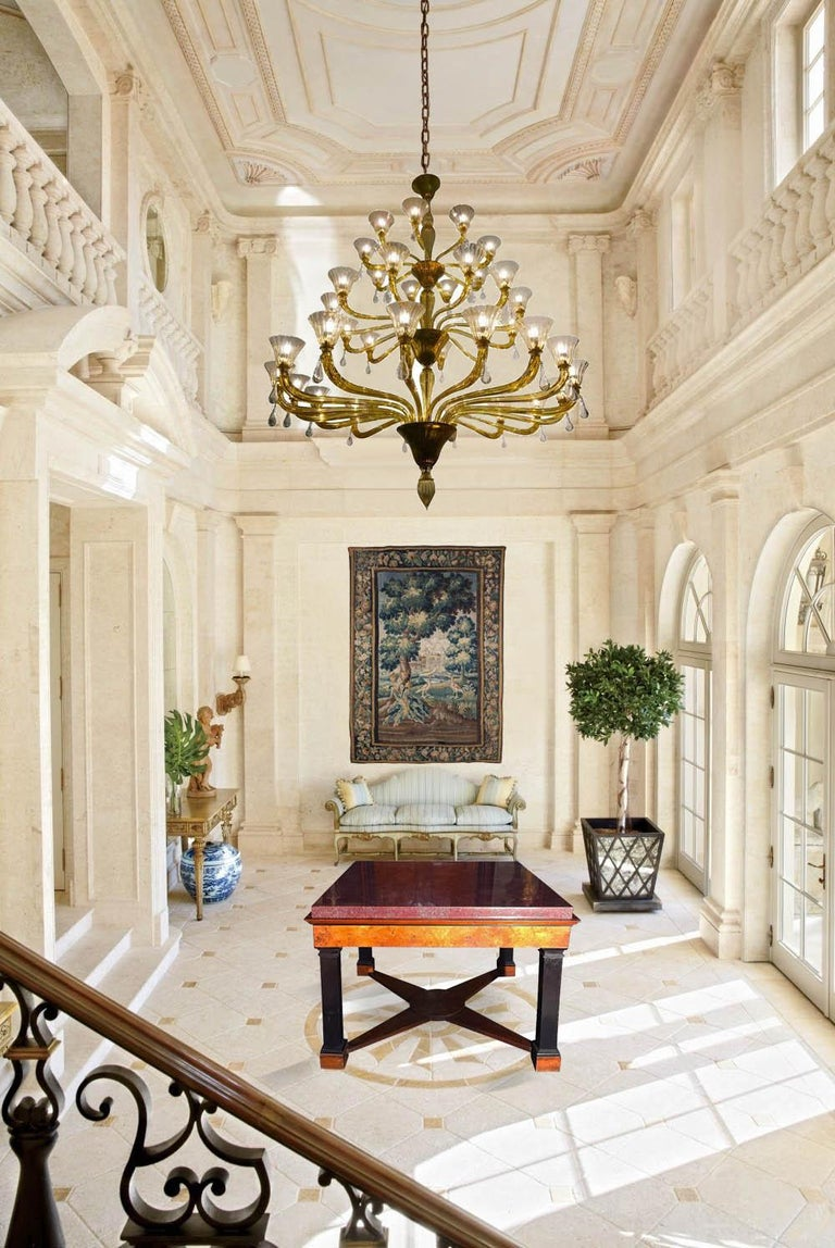 Directoire Neoclassical Italian Center Table with Imperial Porphyry Marble Tabletop For Sale