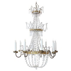 Neoclassical Italian Gilt Chandelier