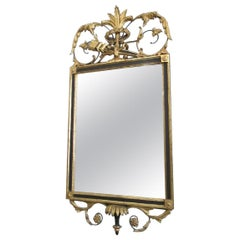 Neoclassical Italian Gold Leaf Mirror with Wood Frame