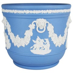 Neoclassical Jasper Cachepot or Flower Pot in Wedgwood Blue by Wedgwood, England