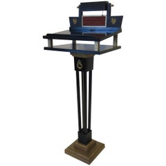 Neoclassical Lectern Podium or Host/Hostess Stand
