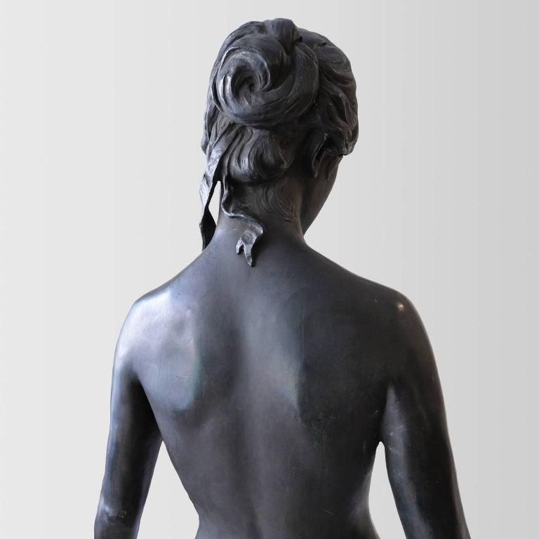 Neoklassische Bronze Statue von Psyche in Lebensgröße, Ludvig Brandstrup, Dänemark, 1898 6