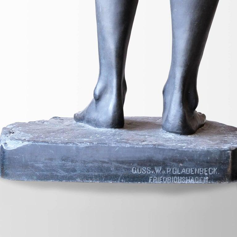 Neoklassische Bronze Statue von Psyche in Lebensgröße, Ludvig Brandstrup, Dänemark, 1898 8