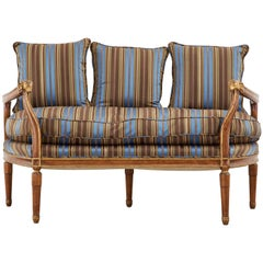 Neoclassical Louis XVI Style Backless Bench Settee