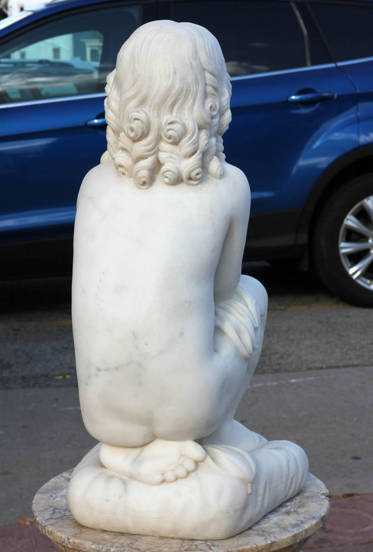Stone Neoclassical Marble Sculpture