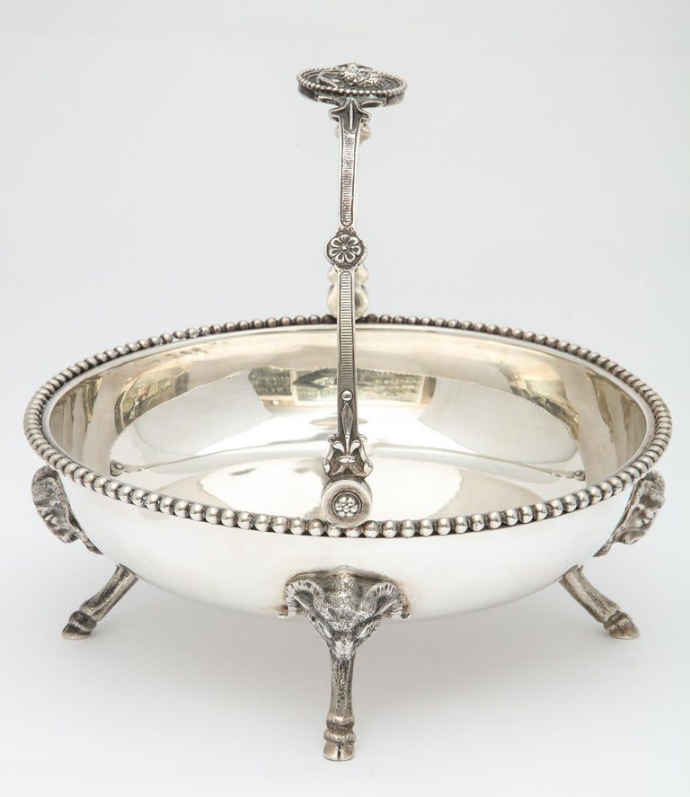 Neoclassical Medallion Sterling Silver Footed Basket, Ball, Black and Co. For Sale 5