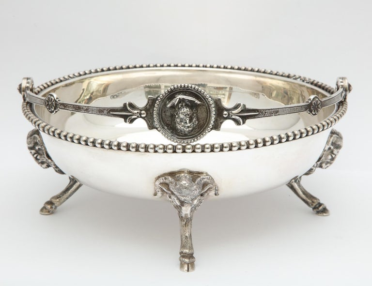 Neoclassical Medallion Sterling Silver Footed Basket, Ball, Black and Co. For Sale 8