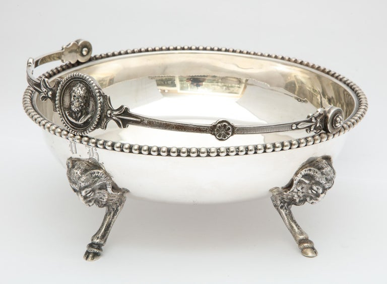 Neoclassical Medallion Sterling Silver Footed Basket, Ball, Black and Co. For Sale 11