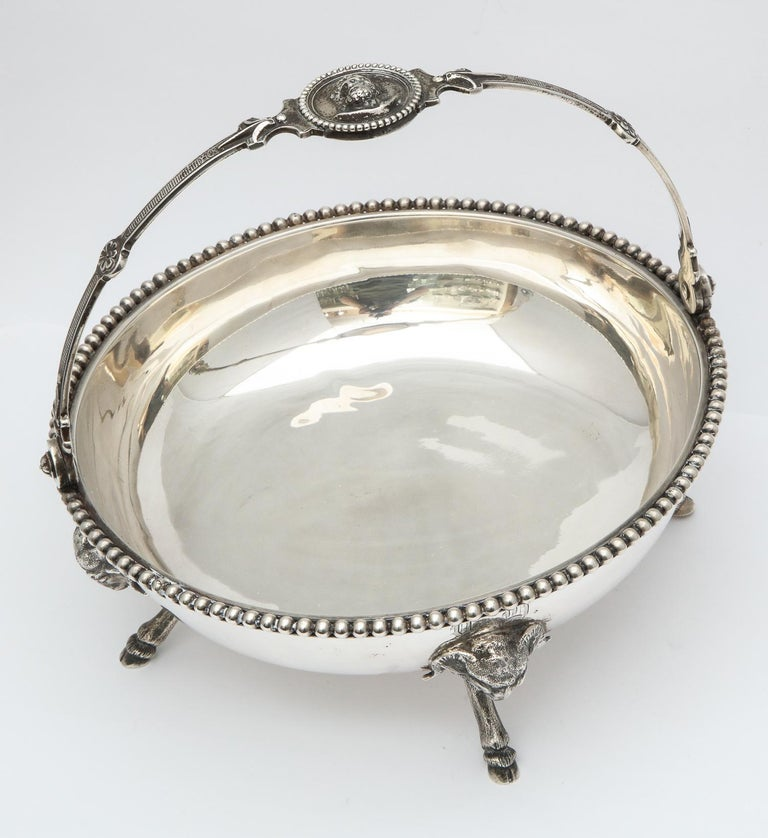 Neoclassical Medallion Sterling Silver Footed Basket, Ball, Black and Co. For Sale 13