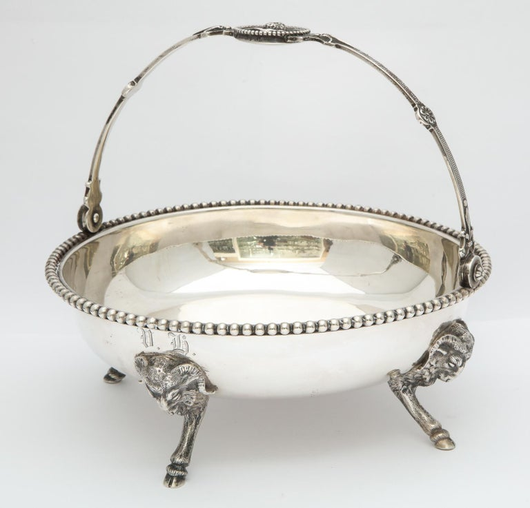 Neoclassical Medallion Sterling Silver Footed Basket, Ball, Black and Co. For Sale 1