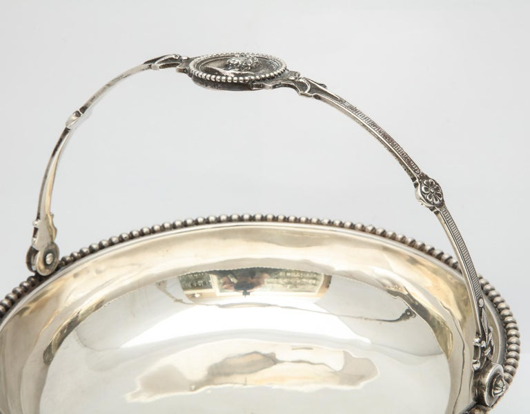 Neoclassical Medallion Sterling Silver Footed Basket, Ball, Black and Co. For Sale 3