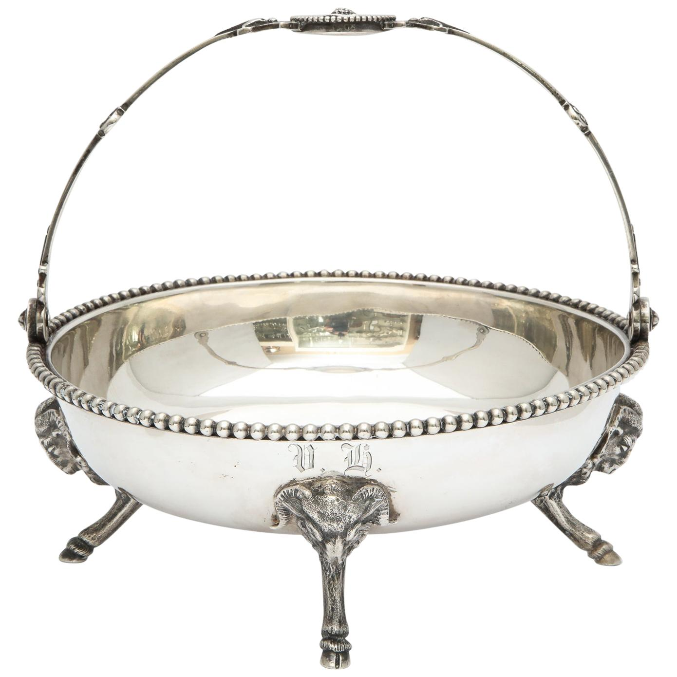Neoclassical Medallion Sterling Silver Footed Basket, Ball, Black and Co.